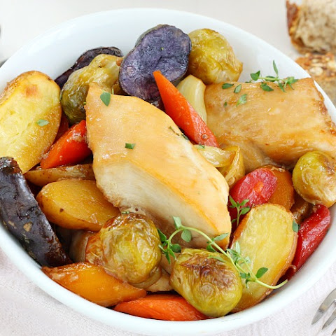 One Pan Roasted Chicken And Vegetables