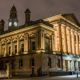 Paisley Town Hall At night by Ian McDonald - Buildings & Architecture Public & Historical ( renfrewshire, scotland, paisley2021, paisley, hdr, paisleyfirst, jp coats, night scene, town hall, clarks, scottish, tourism, architecture, landscape, attraction, historic, nightscape, nighshots, tourists, architectural, long exposure, night, landscapes, outside )