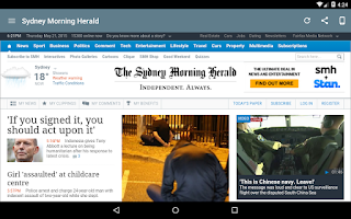 Screenshot of Australia Newspapers