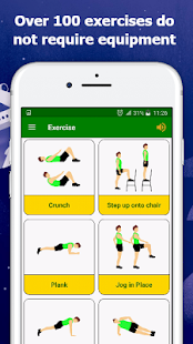 Gym Home workouts no equipment Fitness app screenshot for Android