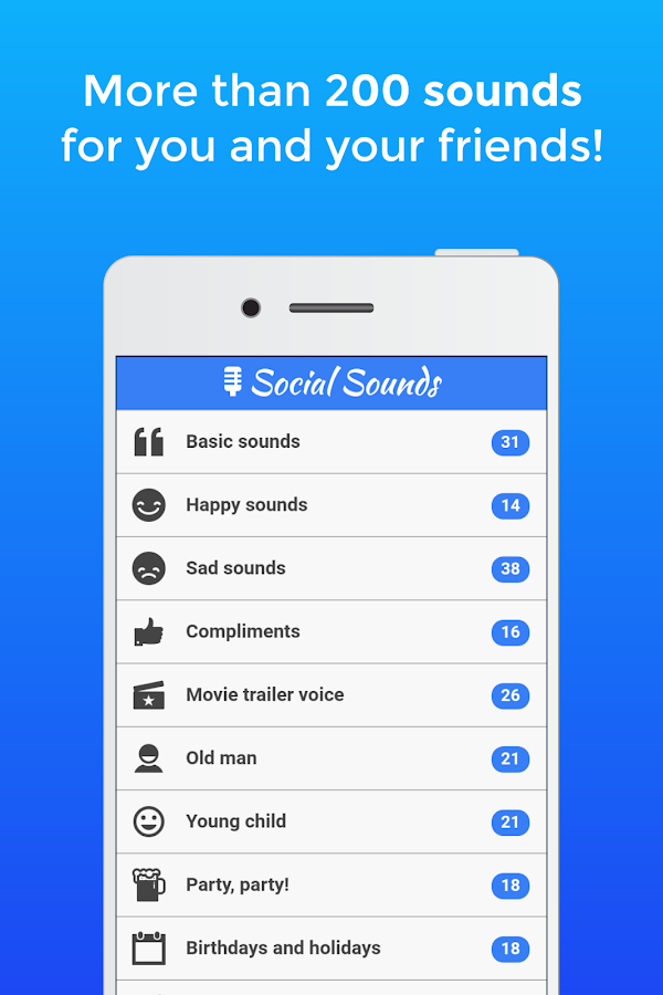 Social Sounds (Ads free) - EN Screenshot 0