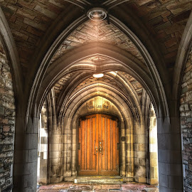 Gothic Archway and Door by James Bessel - Buildings & Architecture Architectural Detail ( scarritt college )