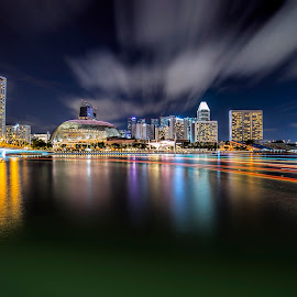 by Gordon Koh - City,  Street & Park  Night ( asia, travel, singapore )