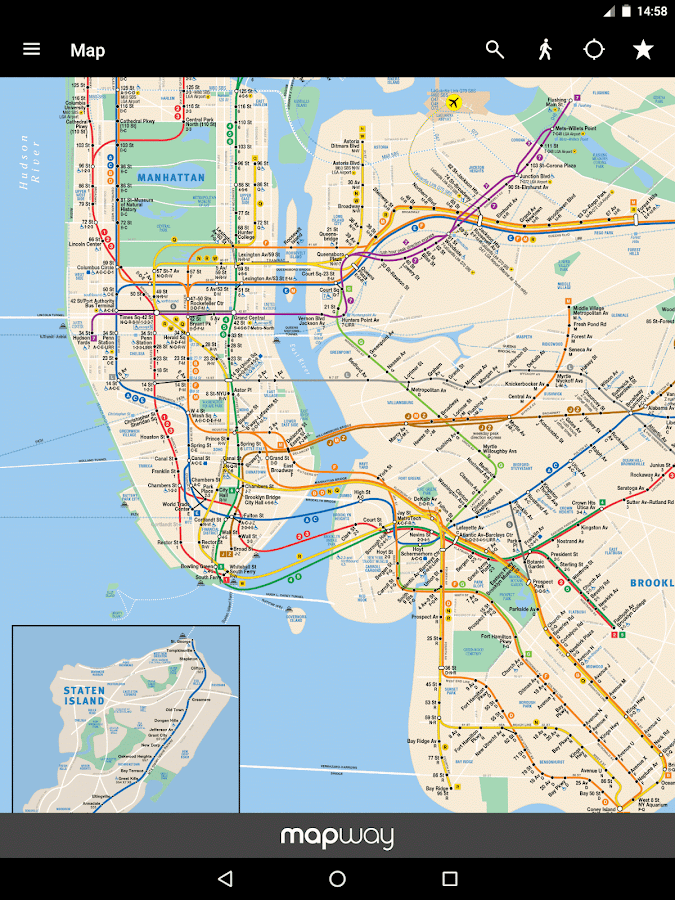 New York Subway – MTA map and routes of NYC Subway - Android Apps ...