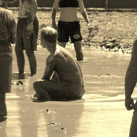 Mud Volleyball at County Fair by Bonnie Burgeson - Sports & Fitness Other Sports