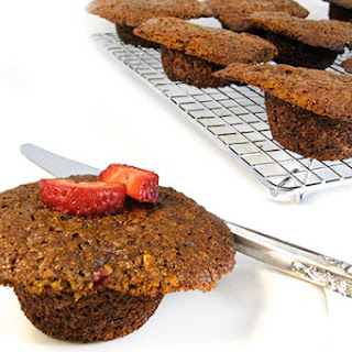 Skinny Fresh Strawberry Bran Muffins