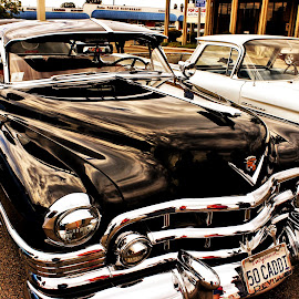 Black Cadillac by Mary O'Brien - Novices Only Objects & Still Life ( yesteryear, 50's, cruiser, cadillac, black cadillac )