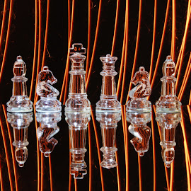 lines and chess by Peter Salmon - Artistic Objects Glass