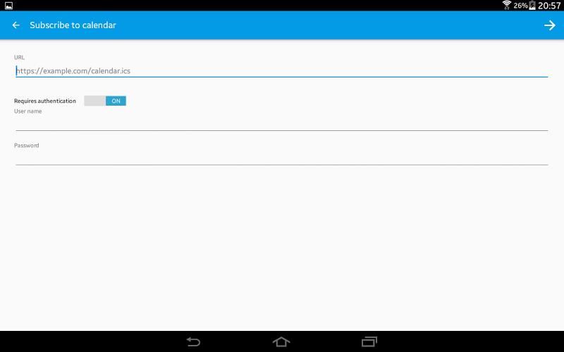 ICSx⁵ (ICSdroid) – sync Webcal & .ics calendars Screenshot 7