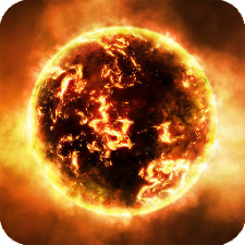 Fire Planet HD Live Wallpaper