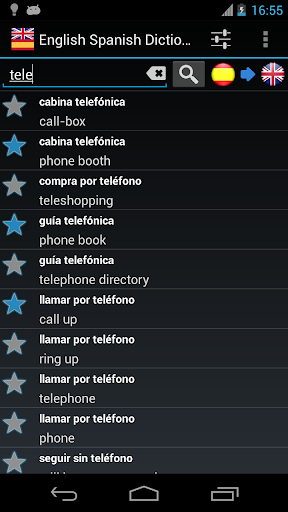 Offline English Spanish dictionary screenshot 2