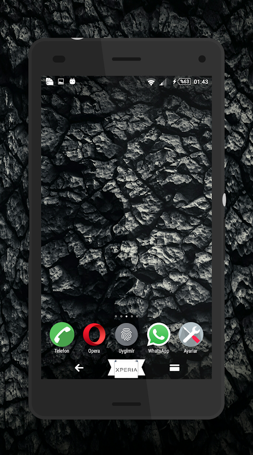Theme MarshBlack For Xperia Screenshot 1
