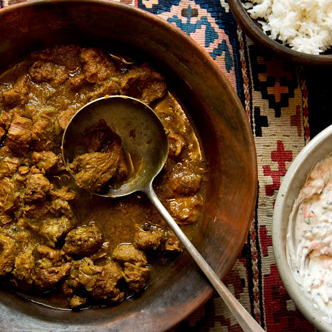Simple Lamb Curry With Carrot Raita