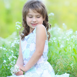 Grace by Sonya Wilson - Babies & Children Child Portraits ( child, girl, nature, flowers, spring )