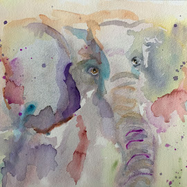 Into Africa watercolor by Jeanne Knoch - Painting All Painting