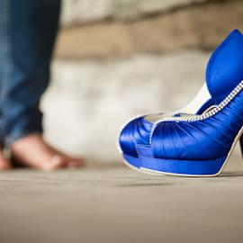 Blue Shoes by John Edwin May - Wedding Getting Ready ( wedding, tennessee, carmichael inn, rebekah, people )