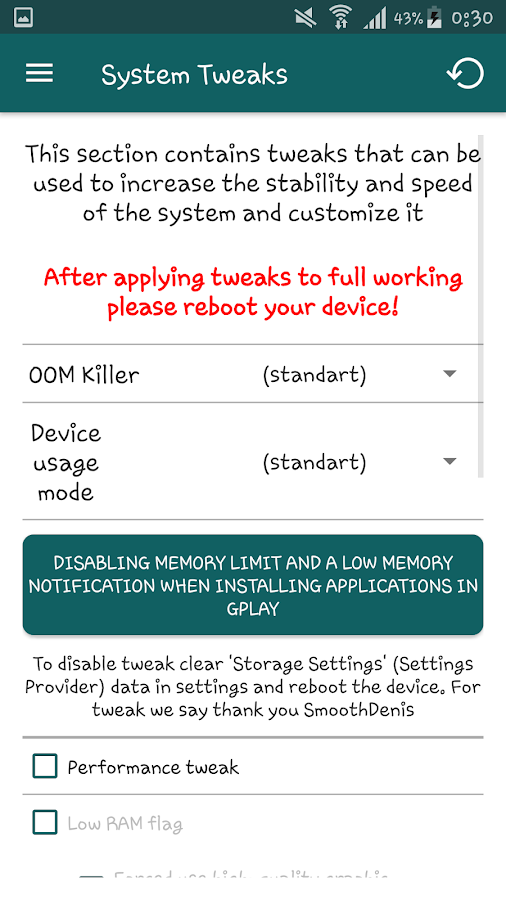 System Tweaker PRO [root] Screenshot 6