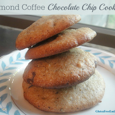 Almond Coffee Chocolate Chip Cookies