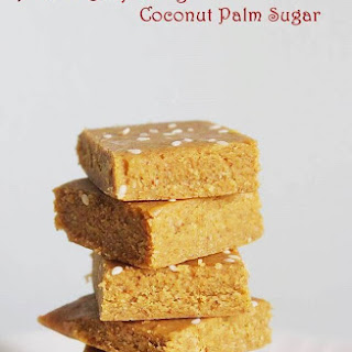 Almond Burfi using Coconut Palm Sugar or Jaggery