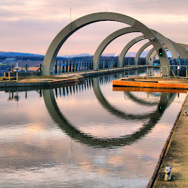 Falkirk Wheel by Martin Hughes - Buildings & Architecture Bridges & Suspended Structures ( falkirk wheel )