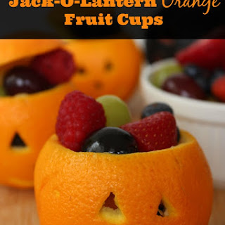 Jack-O-Lantern Orange Fruit Cups