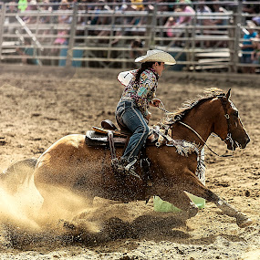 Ride Em' Cowgirl by Sandra Hilton Wagner - Sports & Fitness Rodeo/Bull Riding (  )