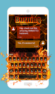 App Burning Animated Keyboard 1.49 APK for iPhone
