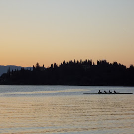Rowing before the dawn by Matina Andrioti - Sports & Fitness Watersports