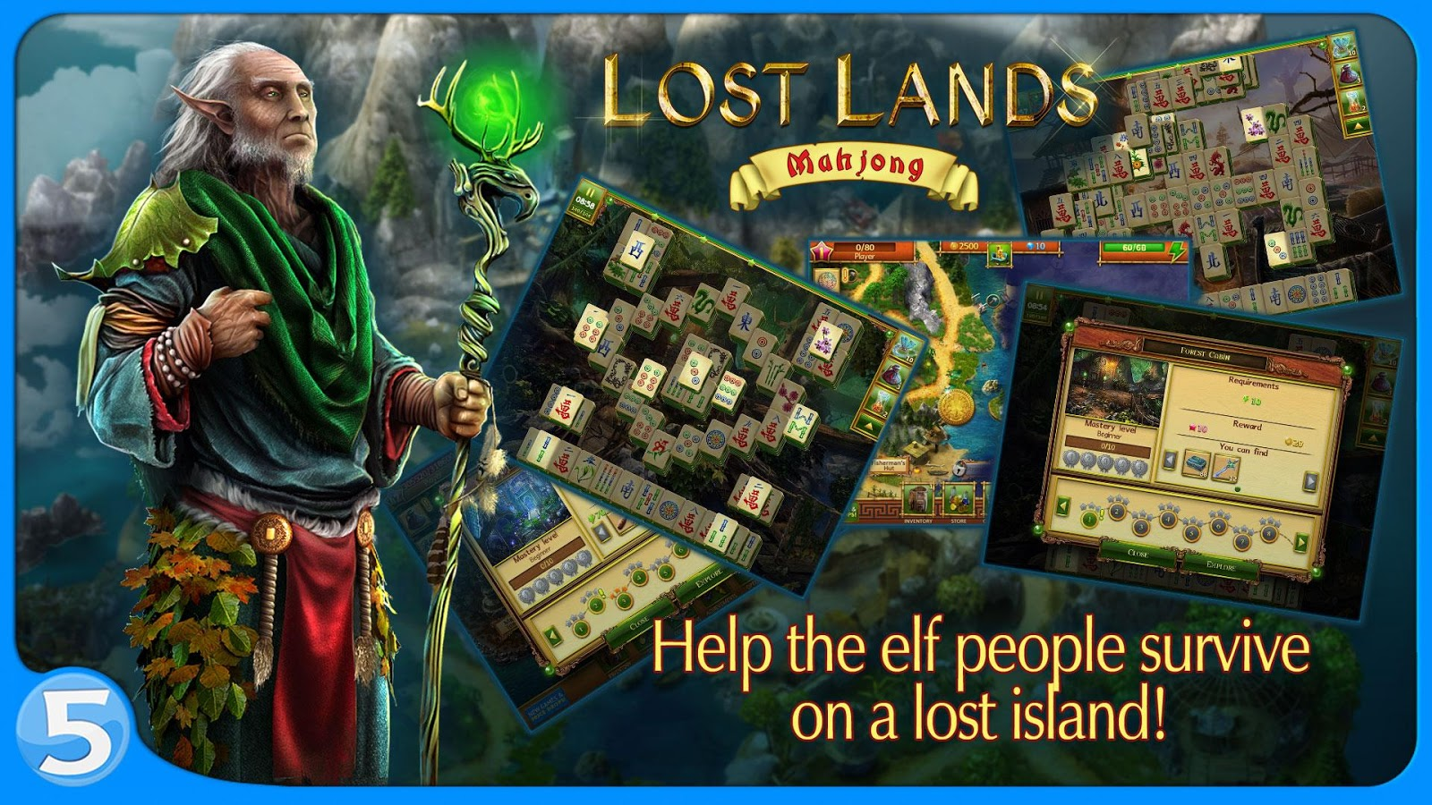 Lost Lands: Mahjong Premium Screenshot