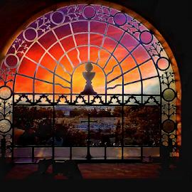 Dominus Flevit by Teo Nino Antunović - Instagram & Mobile Android ( jerusalem, color, israel, church, window )