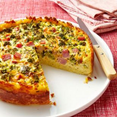 Broccoli, Ham & Cheese Quiche