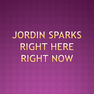 Jordin Sparks Right here Now - screenshot