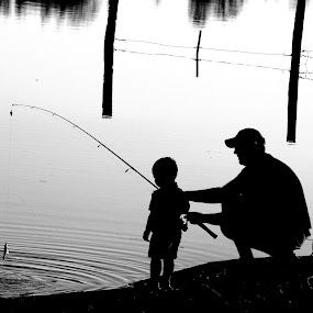 by Tiffany Lett - People Family ( father and son, fishing,  )