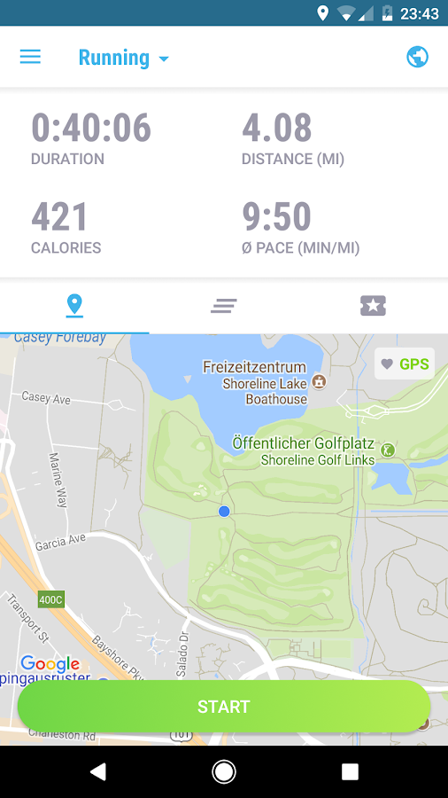 FITAPP Running Walking Cycling Fitness GPS Tracker Screenshot 5