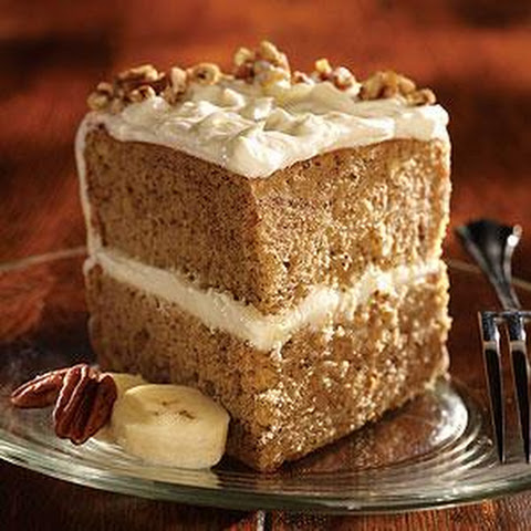 Banana Nut Cake with Double Cream Frosting