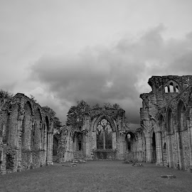 Time by Richard Bull - Buildings & Architecture Decaying & Abandoned ( southampton, b&w, cloud, alter, abbey )