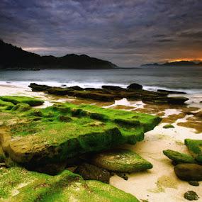 Papuma Beach, East Java by Linggar Saputra I Wayan - Landscapes Waterscapes ( jember, sun set, sun rise, waterscape, indonesia, east java, beach, landscape, papuma )