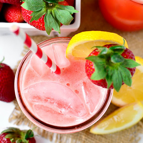 Strawberry Coconut Water Lemonade