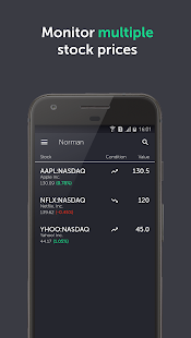 Norman - Free stock alerts screenshot for Android