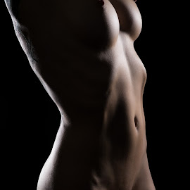 K by Justin Case - Nudes & Boudoir Artistic Nude ( body, nude, naked, shadow, woman, bodyscape, light, curves )