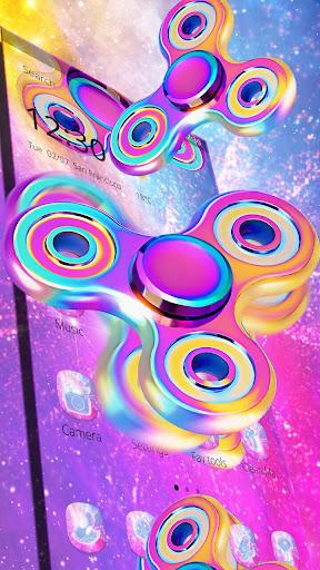 Neon Fidget Spinner Theme For PC