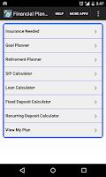 Screenshot of Financial Planner