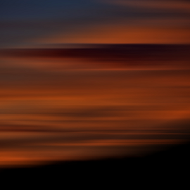 Smoky Sunset by Janet Aguila Krause - Digital Art Abstract ( abstract, abstract photography )