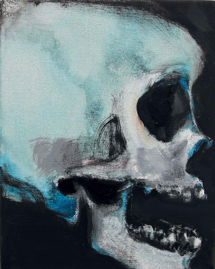 Marlene Dumas, from her series Skulls, 2013-15