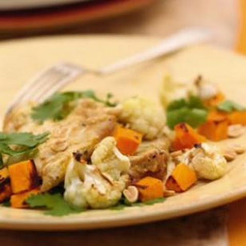 Curried Chicken with Sweet Potatoes & Cauliflower