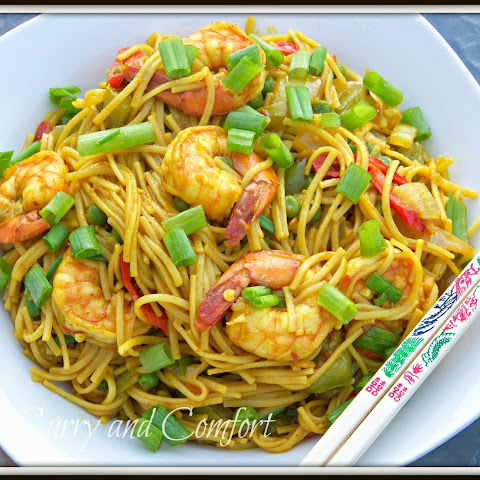 Singapore Noodles with Shrimp