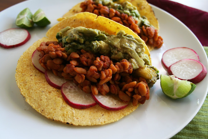 BBQ Tempeh Tacos with Grilled Pineapple Guacamole Recipe | Yummly