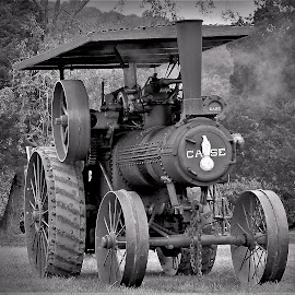 Steel Horse by Sue Delia - Transportation Other ( steel, restored, antique, tractor, iron )