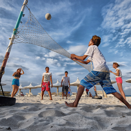 Summer Volleyball by Ferdinand Ludo - People Group/Corporate ( volleyball at the beach, bantayan island, summer days, fresh graduates )