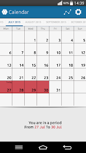Period Calendar - screenshot